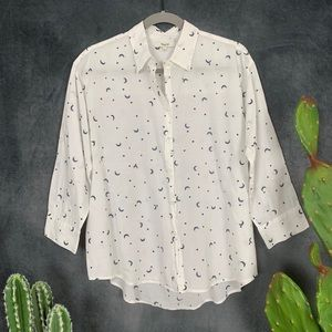 🌵 Madewell Celestial Embroidered Shirt Moon L
